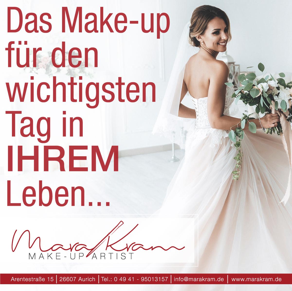 Mara Kram Make-Up Artist aus Aurich. Hochzeit Braut Bride Schminken